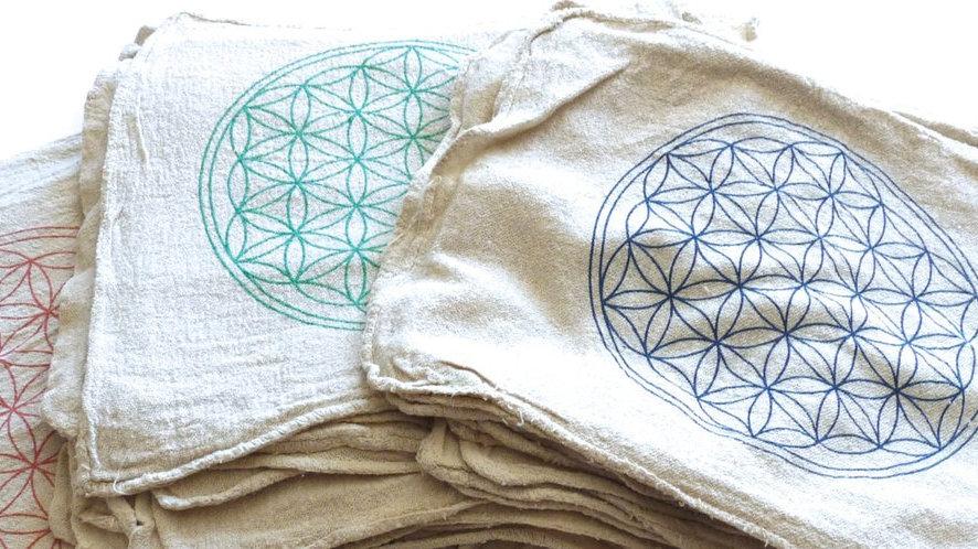 Flower of Life Crystal Grid Cloth