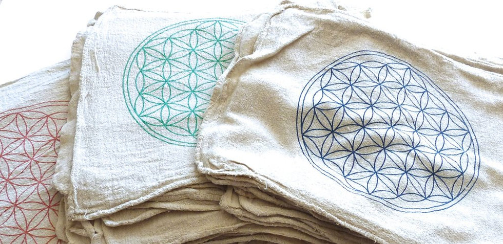 Flower of Life Crystal Grid Cloth