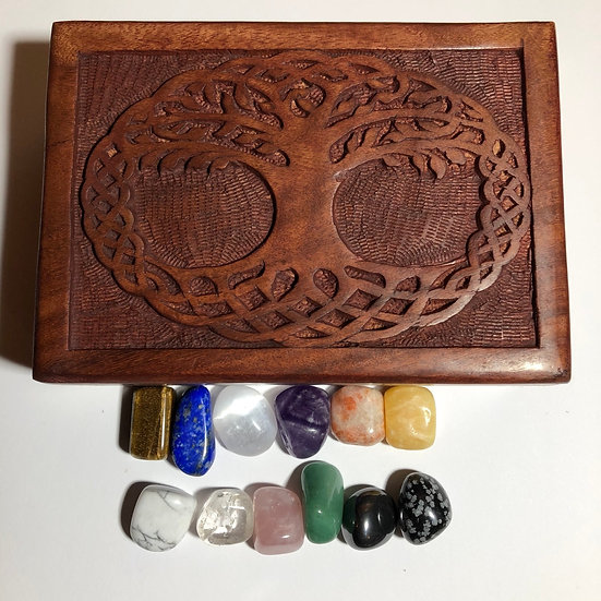 Tree of Life Crystal Healing Set