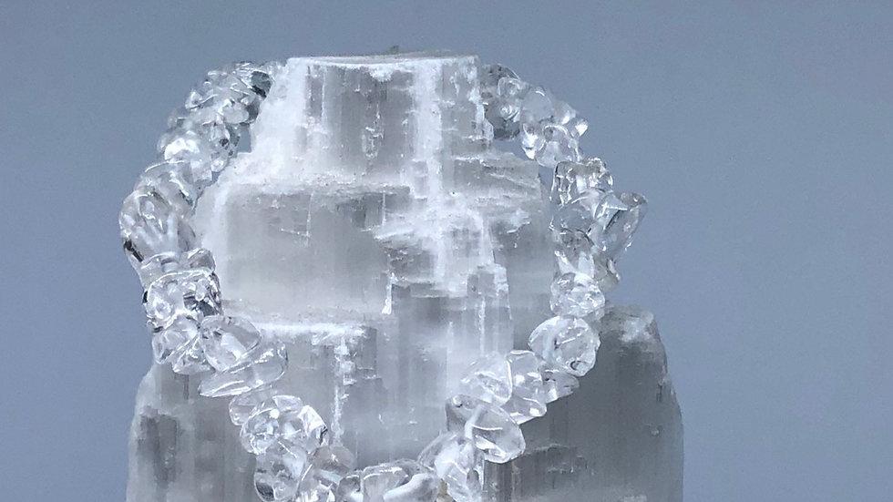 Clear Quartz Crystal Chip Bracelet - LMG Rocks and Crystals
