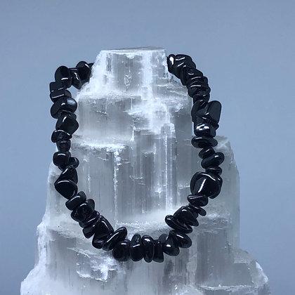 Hematite Crystal Chip Bracelet - Evoking Serenity