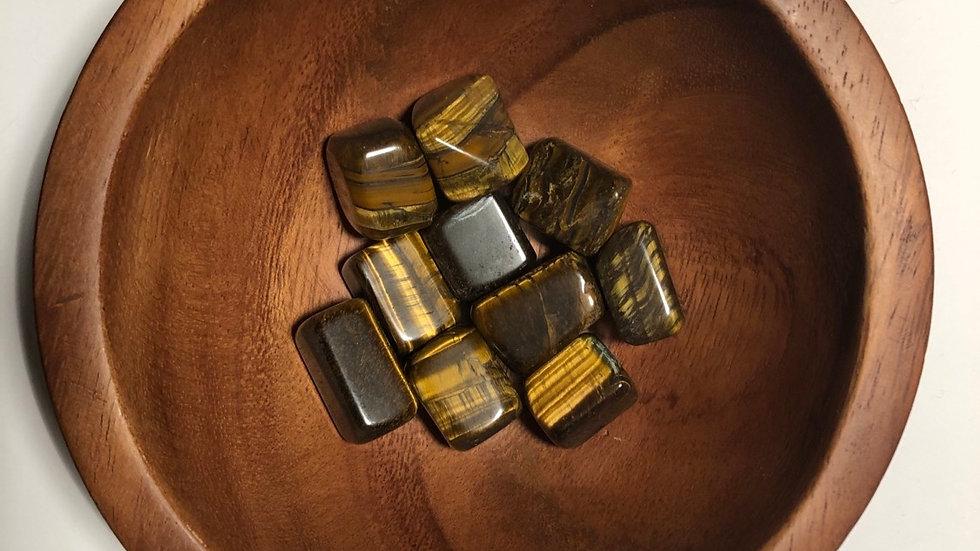 Tiger Eye Gold Tumbled - LMG Rocks and Crystals