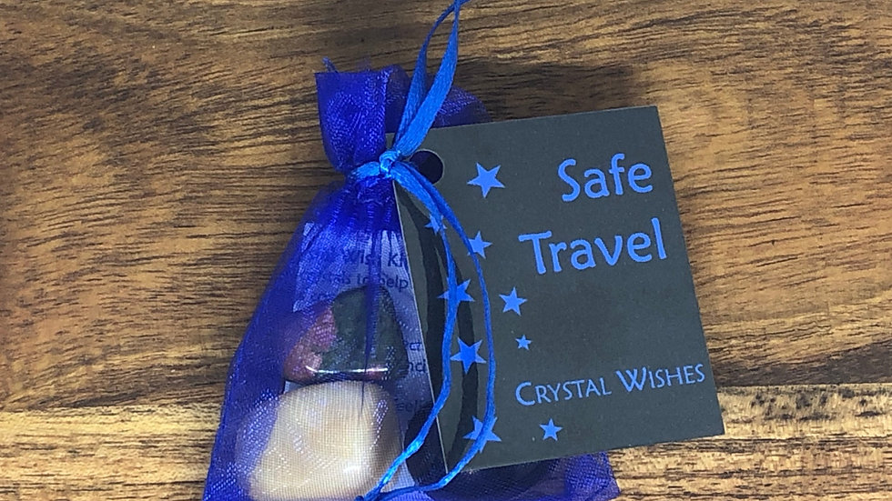 Safe Travels Crystal Wish Kit - LMG Rocks and Crystals