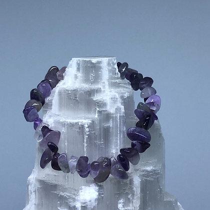 Amethyst Crystal Chip Bracelet - Evoking Serenity