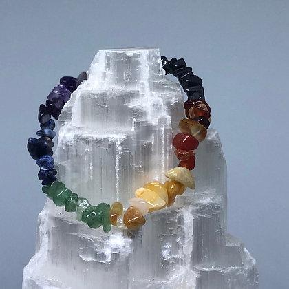 Chakra Crystal Chip Bracelet - Evoking Serenity