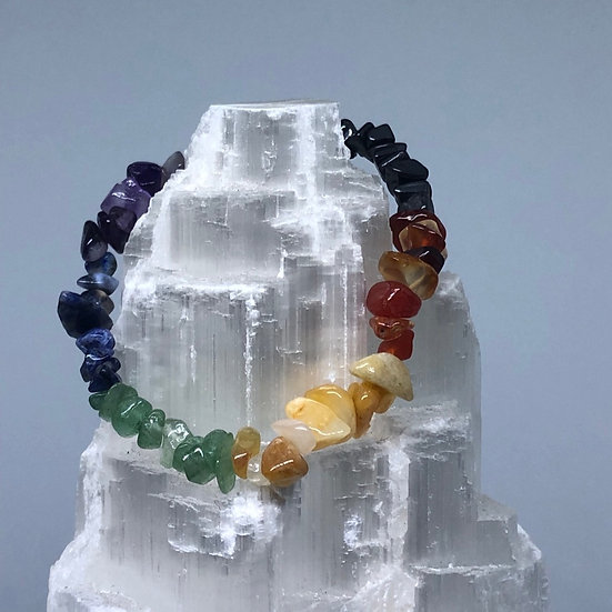 Chakra Crystal Chip Bracelet - LMG Rocks and Crystals