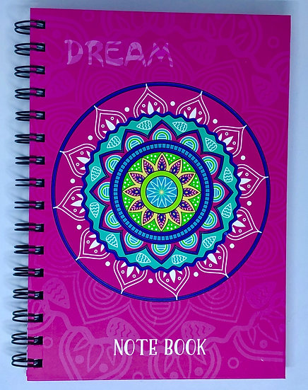 Pink Dream Mandala Inspirational Notebook