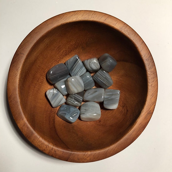 Grey Banded Agate Tumbled - LMG Rocks and Crystals