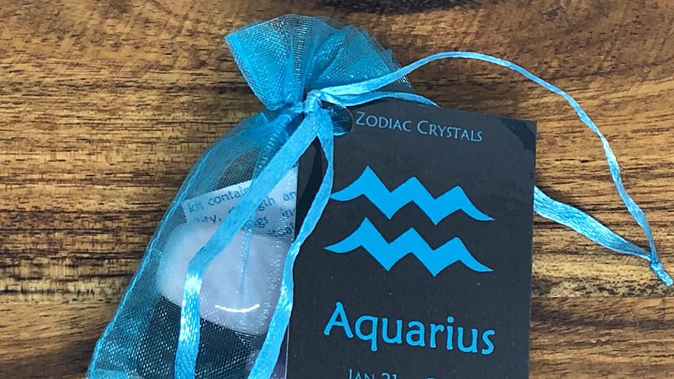 Aquarius Zodiac Crystal Set - LMG Rocks and Crystals
