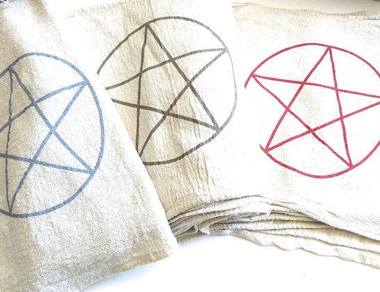 Pentagram Crystal Grid Set - Evoking Serenity