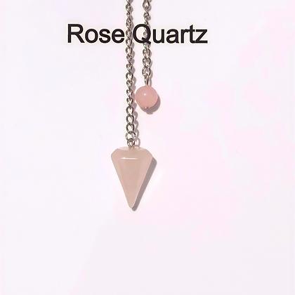 Rose Quartz Pendulum - LMG Rocks and Crystals