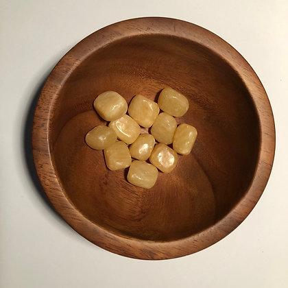 Yellow Aragonite Tumbled - LMG Rocks and Crystals