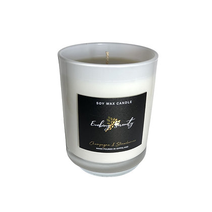 Champagne and Strawberries Large Soy Wax Candle - Evoking Serenity