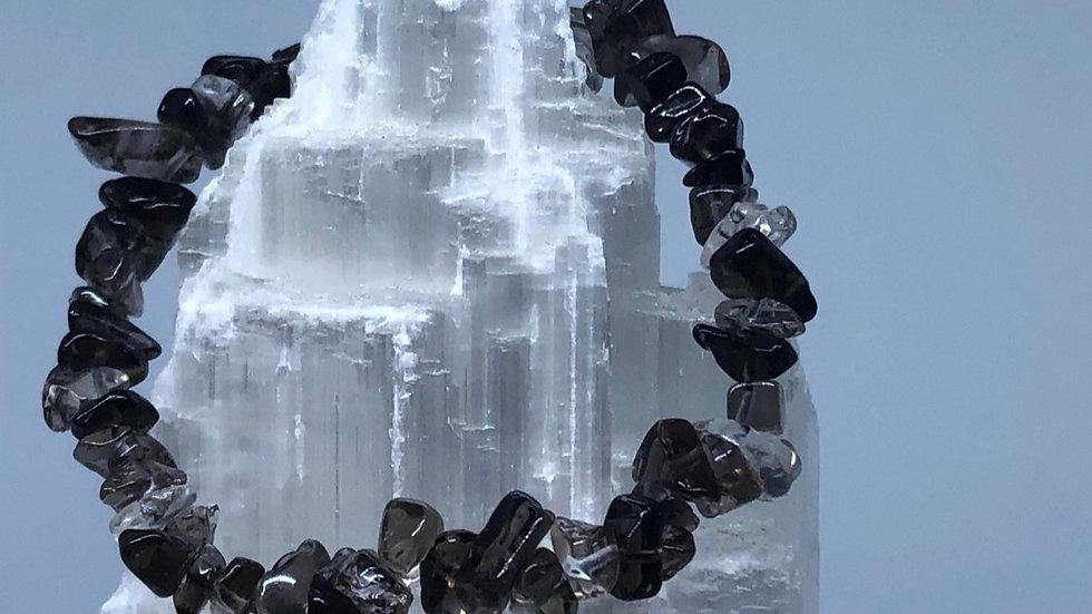 Smoky Quartz Crystal Chip Bracele - LMG Rocks and Crystals