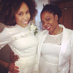 Two of our charter Sorors during our chartering ceremony...May 2, 2015