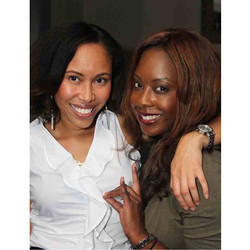 Sorors Taahira and Pascale supporting the Wall Street Alphas Back to Business Network Mixer! Photo c