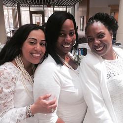 Pretty ladies!! Sorors Clara and Sheridan of AAYZ and Soror Mychelle of SKZ! #love #sisterhood #Down