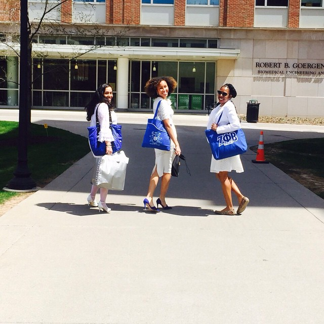 Oh, hey! Greetings from the Alpha Alpha Upsilon Zeta Chapter of Zeta Phi Beta Sorority, Inc., servin