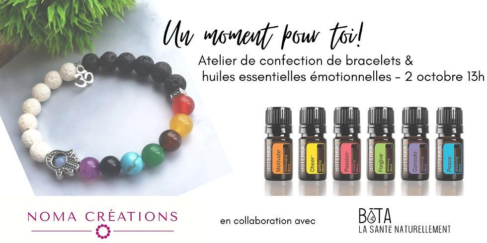 Confection de bracelets & huiles émotionnelles
