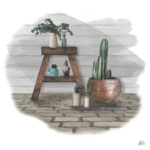 Green Home Happy Home - Art Print