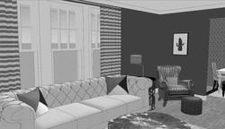 3D Black & White View