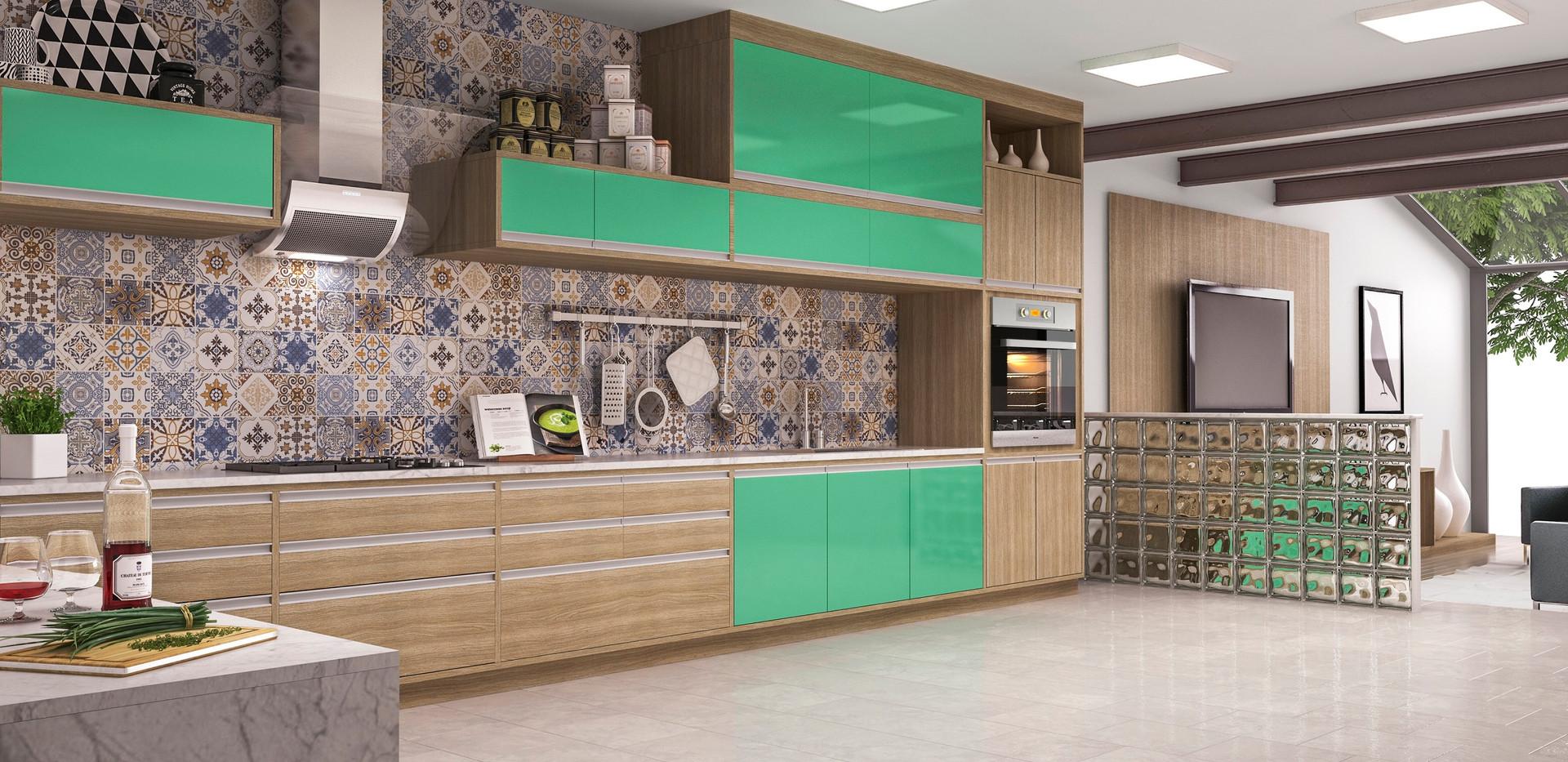 coz12 cozinha planejada verde canto torr