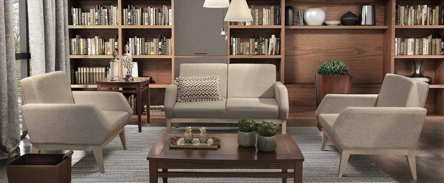 pol15 poltrona sofa estofado mesa de cen