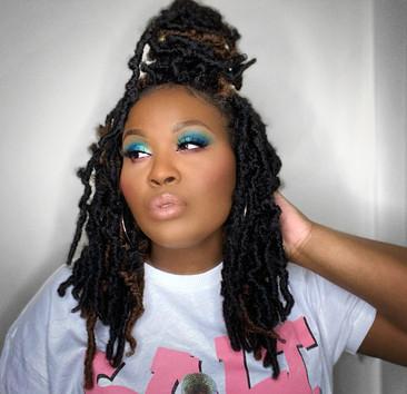 A Teal and Pink Look   The Wahala II Eyeshadow Palette