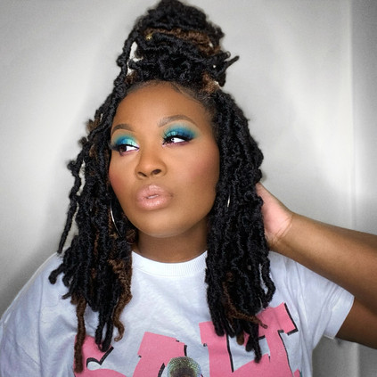 A Teal and Pink Look | The Wahala II Eyeshadow Palette