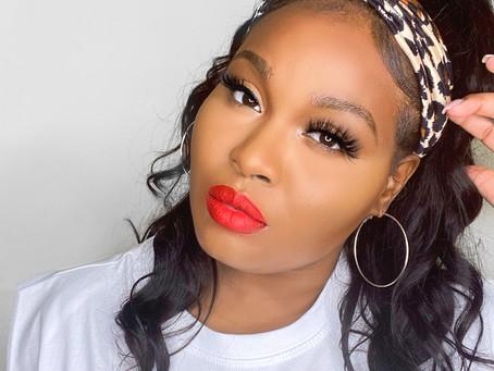 Red Lip Summer Makeup Look