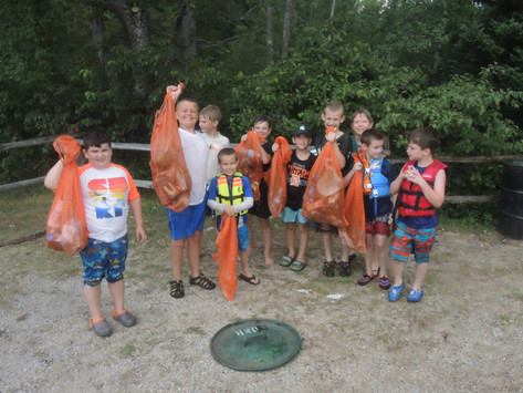 Cadets clean up river after race