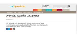 Tatiane Trovatti ha dado una entrevista a la Radio Universidad 96,5, de la Universidad de Cuyo, por