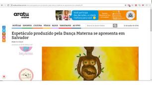 """Matéria sobre """"O Ciclo da Vida"""" naAratu Online"""