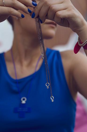 """Кулоны из серебра «Венера» и «Марс» на черной цепочке / Silver pendants """"Venus"""" & """"Mars"""""""