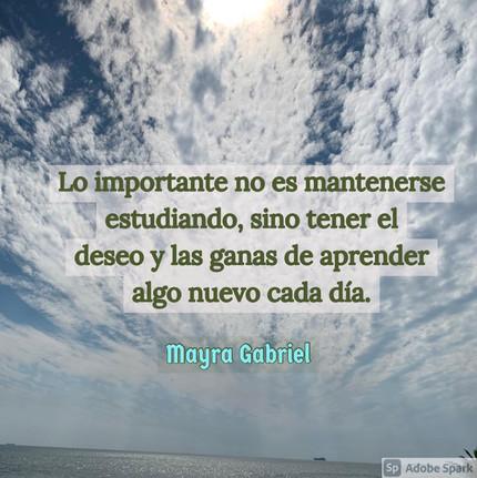 Lo importante no es mantenerse estudiando, sino tener el deseo y las ganas de aprender algo nuevo cada día