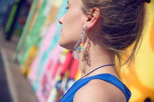 "Моно-серьга «Девочка» / Mono earring ""Girl"""