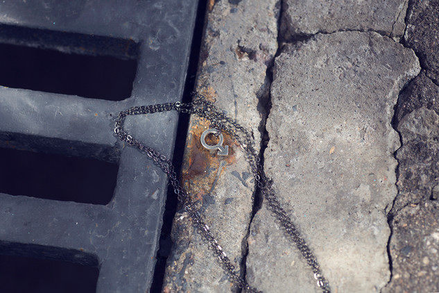 """кулон из серебра «Марс» на черной цепочке / Silver pendant """"Mars"""""""