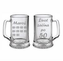 """pískovaný pivní půllitr """"Maroš 50"""""""