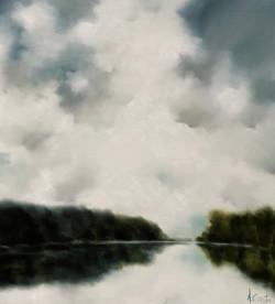 Mirror Lake Morning I, 2020_48x48-Water.