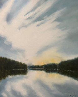 Just Before Sunset, 2021_60x48_Water.jpe