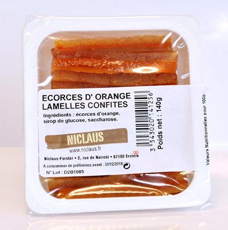 Ecorces d'orange confite 140g