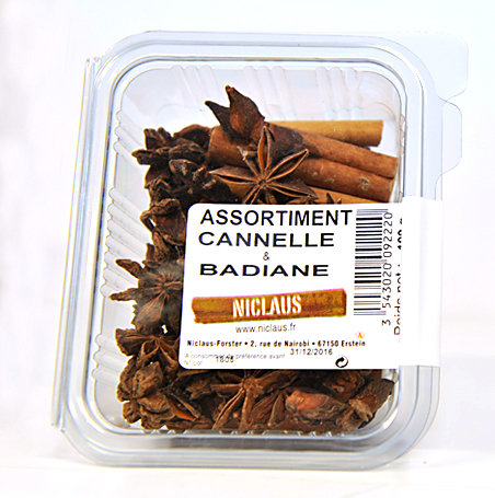 Assortiment cannelle - badiane 100g