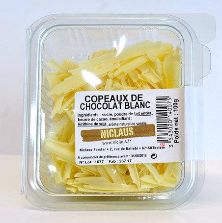 Copeaux chocolat blanc 100g