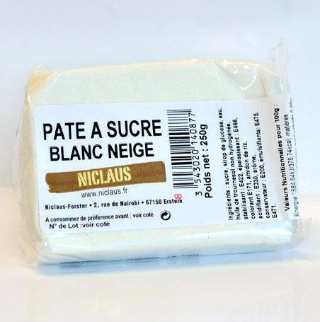 Pâte à sucre BLANC NEIGE 250g