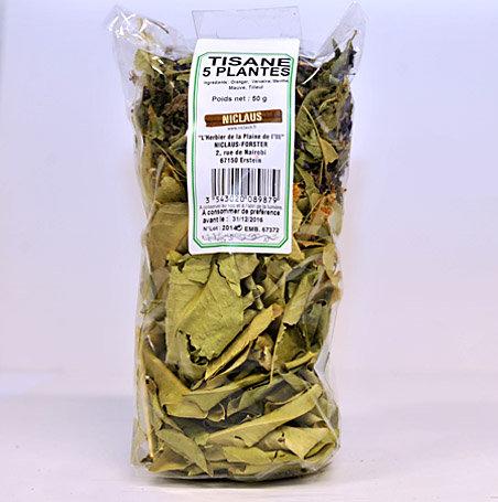 Tisane cinq plantes 50g