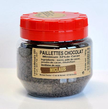 Paillettes chocolat 180g