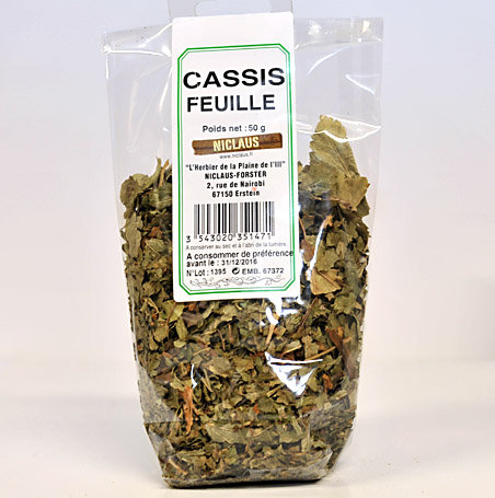 Cassis feuilles 50g