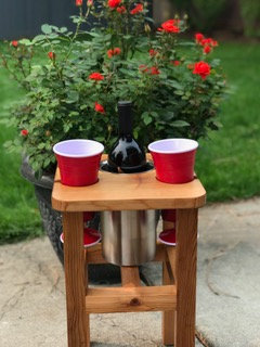 Wine Stool with Stainless Wine Chiller