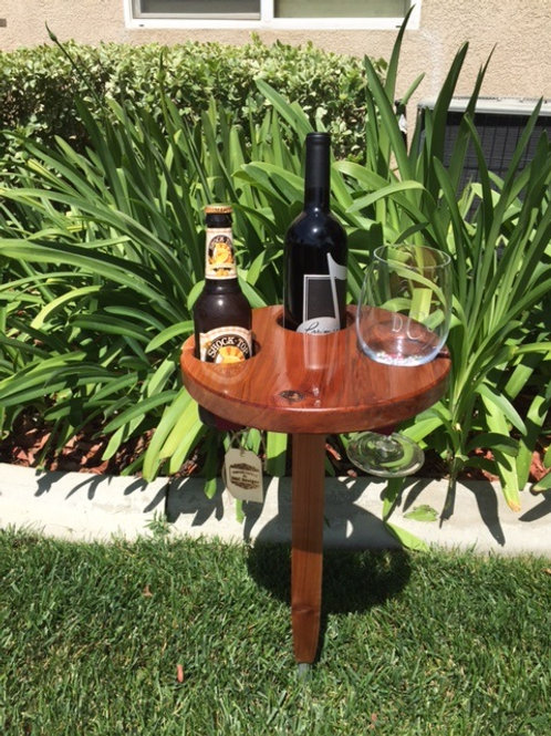 Round Wine Table by D&C Designs - 2 Glass