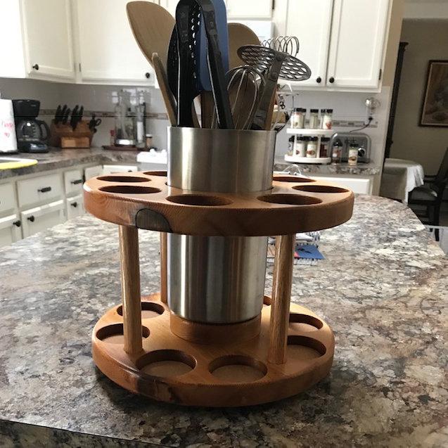 20 Spice Rack Wstainless Utensil Holder By Dc Designs Dc Wine Designs